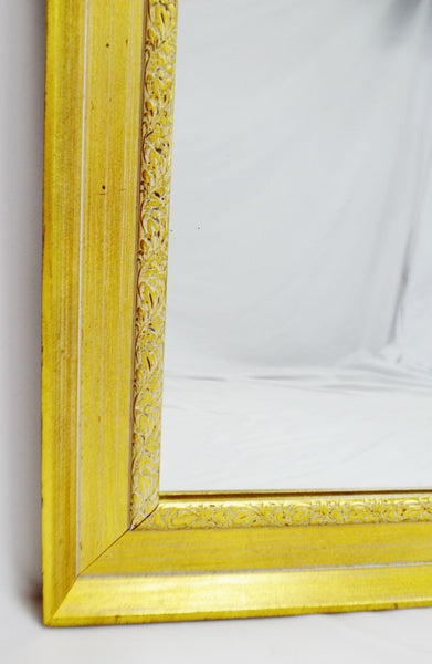 Vintage Gold and White Striated Paint Framed Mirror – Birchard Hayes ...