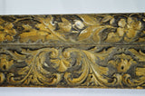Antique Gold Gilt Gesso Floral Filigree Framed Wall Mirror 48 x 34