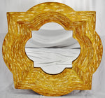 Vintage Large Scale 3 Dimensional Sculptural Style Resin Wall Mirror