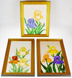 Vintage Framed Floral Still Life Artist Signed Oil on Canvas Paintings - Set of 3