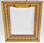 Vintage Reticulated Metal Lighted Picture Frame