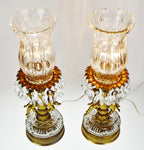 Hollywood Regency Cherub Prism Lamps - A Pair