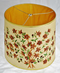 Vintage Floral Cut Out Drum Lamp Shade