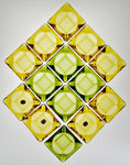 Vintage NOS Anchor Hocking Avocado Green & Honey Gold Glass Ashtrays - Group of 14