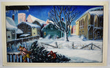Vintage Large Scale Frederick K. Detwiller Winter Landscape Oil Painting - Signed