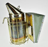 Used Bee Smoker with Heat Shield and Leather Bellows - Great Decorative Piece