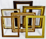 Vintage Medium Sized Wood Picture Frames - Group of 6