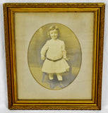 Antique Gilt Framed Photograph Portrait of A Child