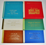 "Vintage Reader's Digest Musical Treasure Chest 12"" Vinyl Record Box Sets"
