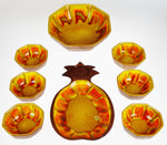 Vintage Sequoia Ceramic Salad Bowl Set & Pineapple Tray - Group of 8