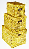Wicker Nesting Storage Boxes - Set of 3