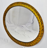 Vintage Resin Wood Look Framed Oval Wall Mirror