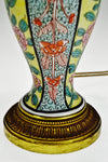 Antique French Art Nouveau Belle Epoque Hand Painted Porcelain Table Lamp
