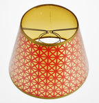 Mid Century Geometric Red & Gold Paper Lamp Shade
