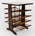 Vintage Wood Spindle Magazine Rack End Table