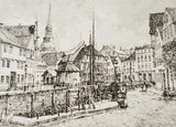 Pair of German Village Scene Prints by W. Fischer