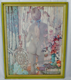 "Vintage Alexander Sharpe Ross Print of Watercolor Titled ""Blue Ribbon"" - RARE"