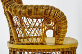 Victorian Larkin Company Wicker Rocking Chair