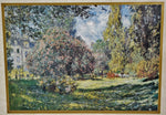 "Vintage Claude Monet ""The Parc Monceau Paris"" Framed Print"