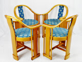 Vintage Art Deco Style Colber Italian Bentwood Armchairs - Set of 4