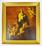 Vintage Religious Immaculate Conception Framed Print on Board