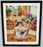 Barbara Higgins Bond Sunday Brunch Limited Edition Textured Lithograph