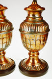 Mid Century Tinned Copper Table Lamps - A Pair