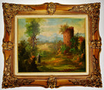 Vintage Van Den Bogaerde Belgium Framed Oil on Canvas Painting - Artist Signed