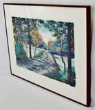 Vintage Framed Steve Bloom Pencil Signed Artist Proof Serigraph Early Seasons