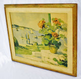 "Vintage Framed R. Wintz ""The Geranium Gouttelette"" Seascape Print"