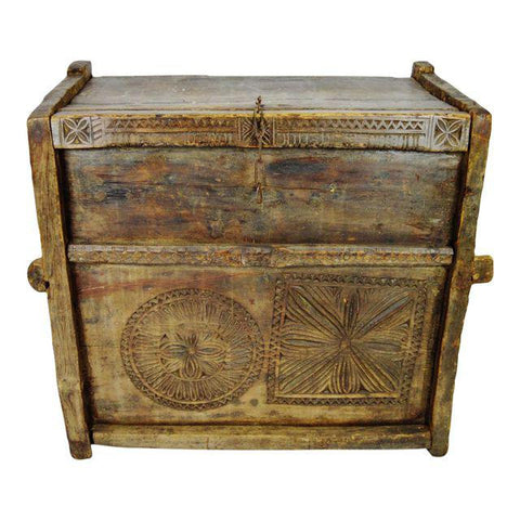 Ancient Kafiristan Nuristan Dowry Treasure Chest