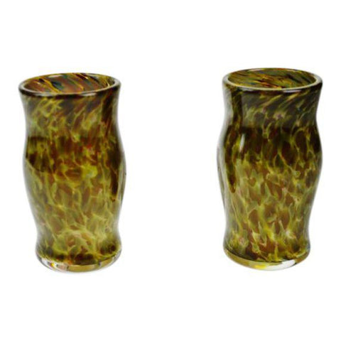 Set of 2 Handcrafted, Hand Blown Art Glass Vessels - 5 sets available
