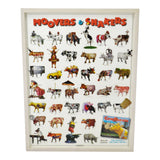 Vintage Framed Movers & Shakers Cow Parade New York 2000 Poster