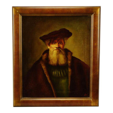 Authentic Rembrandt Style Oil on Canvas Painting by Dutch Master Artist Edgar Kooi