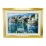 Vintage Framed Howard Behrens Brushstrokes Collection Lithograph Painting on Canvas