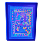 Vintage Framed Black Light Folk Art Painting