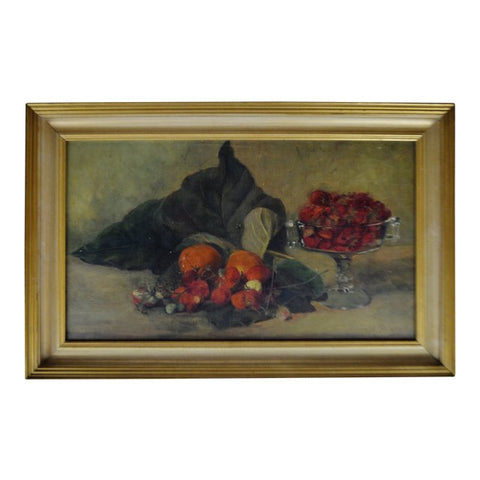 Vintage Framed Oil on Board Still Life Painting - Artist Signed
