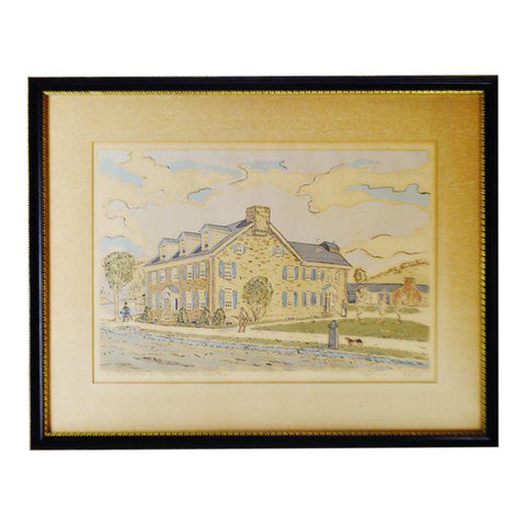 Vintage 1941 Framed Fredrick K. Detwiller Print - Artist Signed and Numbered