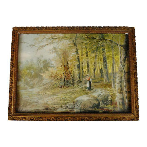 "Early ""Maiden in Forest"" Framed Print"