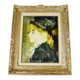 Vintage Rococo Style Framed Renoir Giclee Titled Portrait Of Margot