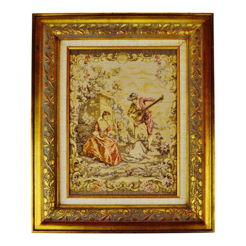 "Early Framed French Tapestry 24"" x 20"""