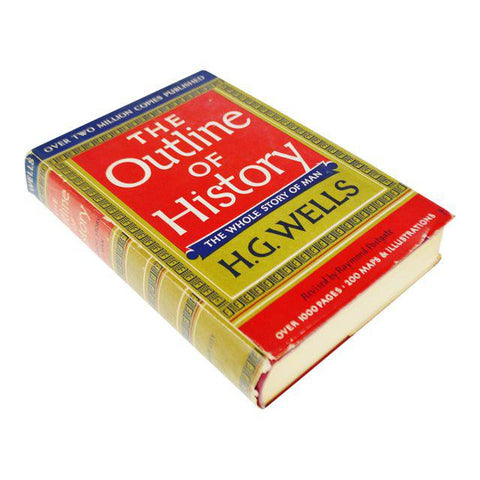 1956 The Outline of History H.G. Wells Vol. II Illustrated Hardcover