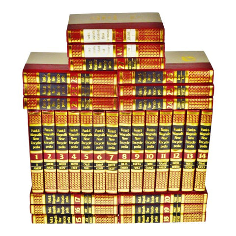 Vintage 1970's Funk & Wagnalls New Encyclopedias - Set of 29