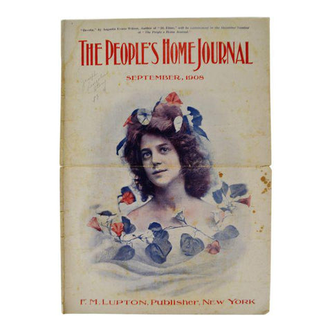 Antique September 1908 The People's Home Journal Magazine
