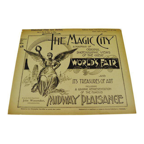 1894 Chicago World's Fair Magic City Illustrated Photo Book Collection