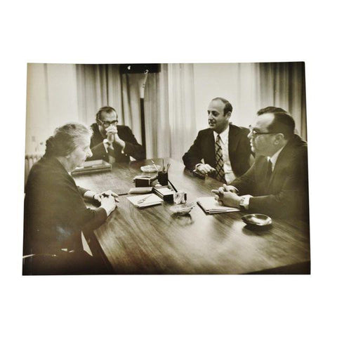 Vintage 1968 Original Photo of Former Israeli Prime Minster Golda Meir