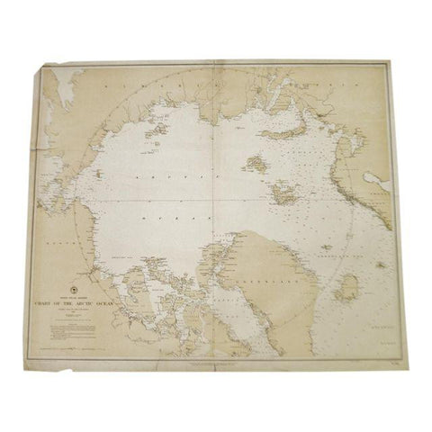 1885 North Polar Regions Chart Of The Arctic Ocean Nautical Chart No. 963