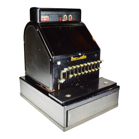 Antique Burroughs Cash Register