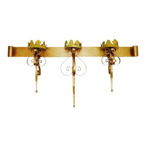 Large Wrought Iron Candle Holder Wall Sconce