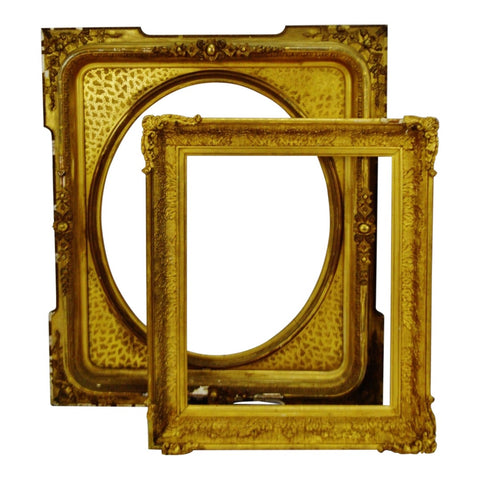Antique Large Gold Gilt Wood Frames - Group of 2